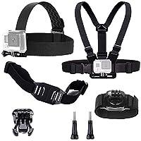 tekcam Basic Kit de accesorios de la cámara de acción para GoPro Hero6 5  negro Hero 4 Silver apeman Akaso ek7000 4 K Acción Cámara cabeza correa + arnés  de ... a88f98050d0b