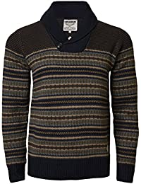 4499cf12853a Threadbare Mens Jumper IMS 060 Sweater Knitwear Shawl Neck Aztec Pullover