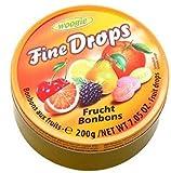 """Woogie Frucht-Bonbons """"Fine Drops"""" in der wiederverschließbaren 200g Dose"""