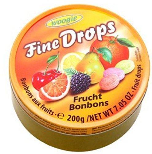 """Woogie Frucht-Bonbons \""""Fine Drops\"""" in der wiederverschließbaren 200g Dose"""