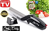 Cook Easy Clever Cutter Two in One Knife and Cutting Board - 2-in-1 Knife and Cutting Board Knife Food Chopper - High Quality Vegetable Chopping Knife Kitchen Scissors Including a Wall Holder + Ebook
