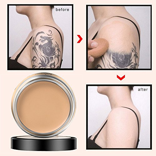 Concealer Cover Concealer -Abdeckung Flawless Farbwechsel Warmer Hautton Camouflage Cream (1 x 40g, natural beige 02#) Full Cover