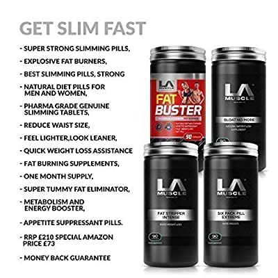 LA Muscle Belly Buster Stack: ? Great for Fat Loss, ?Melt fat with these super shredding weight loss diet pills ?Best selling slimming pills with absolutely no side effects ? Super effective fat burners with an advanced, proven fat burning formula? Suitab