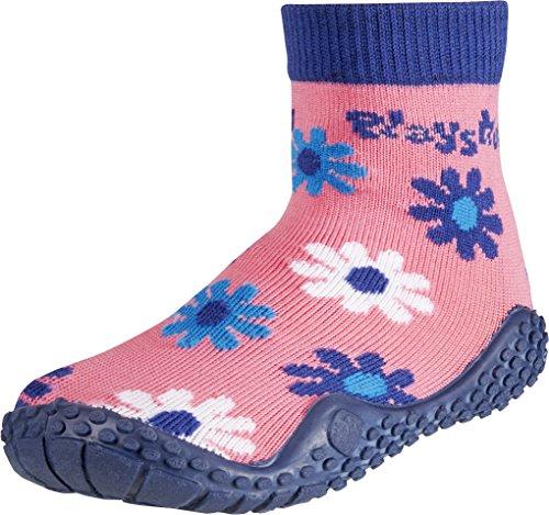 Playshoes Aqua Socken, Badesocken Veilchen, Scarpe da Spiaggia e Piscina Unisex – Bambini Multicolore (Schwarz)
