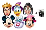 Mickey Mouse und Freunde Halloween Karte Partei Gesichtsmasken (Maske) Packung von 6 (Mickey, Minnie, Donald, Ursula, Wicked Witch und Wicked Queen)
