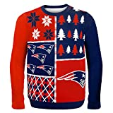 Klew NFL Pullover Busy Block XL New England Patriots