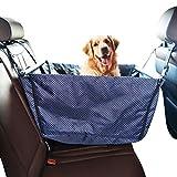 YOUJIA Hundesitz Auto-Schutz Hundekorb für Rückbank Transporttasche Schondecke Reise Hängematte Wasserfest sicherer Transport für Katze Hunde (Tupfen, 50*50*40cm)