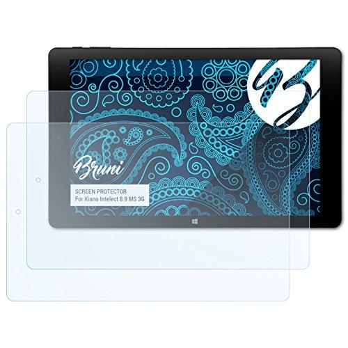 Bruni Schutzfolie für Kiano Intelect 8.9 MS 3G Folie, glasklare Displayschutzfolie (2X)