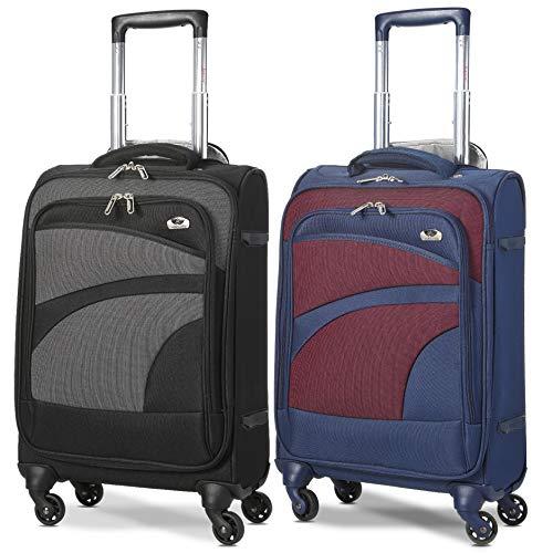Aerolite Leichtgewicht 4 Rollen Handgepäck Trolley Koffer Bordgepäck Kabinentrolley Reisekoffer Gepäck Für Ryanair, Lufthansa und Mehr, 2 Teilig