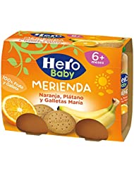 Hero Baby Merienda Galleta con Naranja y Platano - Pack de 2 x 190 g -