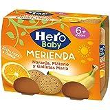 Hero Baby Merienda Galleta con Naranja y Platano - Pack de 2 x 190 g - Total: 380 g