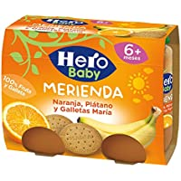 Hero Baby - Babymerienda Naranja Platano Galleta. 2 x 190 g