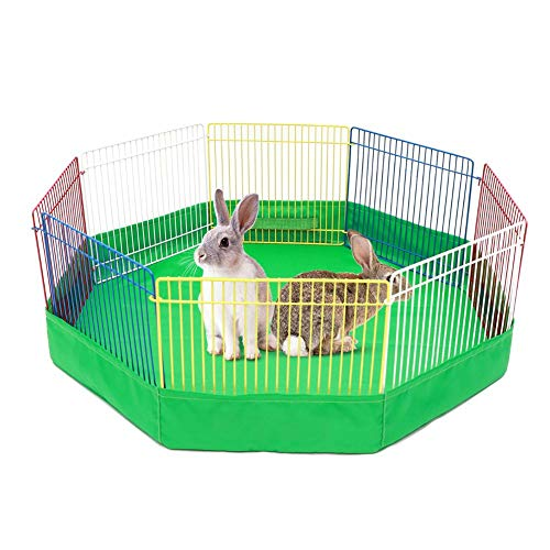 Fuitna Haustier Zaun Kleintierkäfig Kaninchen Zwinger Kiste Zaun Zelt Tragbare Indoor Metalldraht Hof Zaun Pet Vent Zaun -