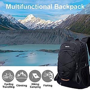 51EVE1  f3L. SS300  - Mochila 40L Viaje Excursionismo Camp Caminata Portátil Deportes al Aire Libre Daypack Impermeable Mochila Trekking Subir…