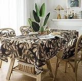 shanshan X Blatt Kaffee Farbe tischdecke Land Polyester Baumwolle tv-Schrank quadratisch couchtisch pad tischdecke 140 * 180