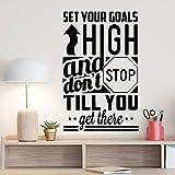 Imposta i tuoi obiettivi in   alto e non fermartifinchènon ci arrivi Adesivo Stanza dell'ufficio Decorazione della parete Camera da letto Adesivi in   vinile Muraux57x90 cm