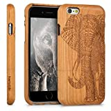 kwmobile Coque Apple iPhone 6 / 6S - Étui de Protection Rigide en Bois véritable -...