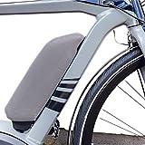 Neopren Schutzhülle, Akkuschutz für E-Bike Bosch Akku von NC-17 / Batterie Thermo Cover für Bosch Rahmenakku / One Size / Farbe Silbergrau
