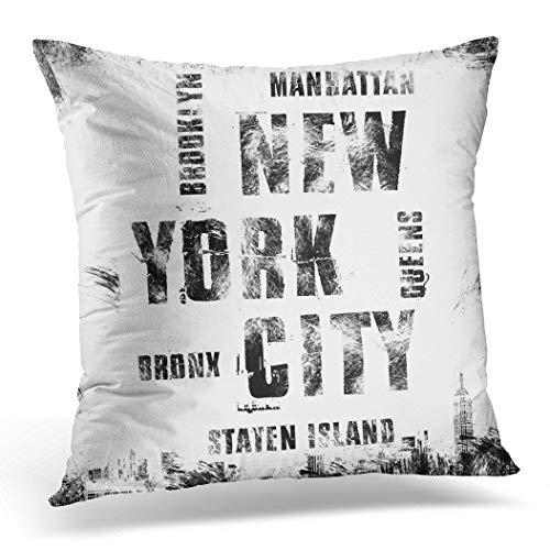 Topyee Funda de cojín con Emblema de la Ciudad de Nueva York,...