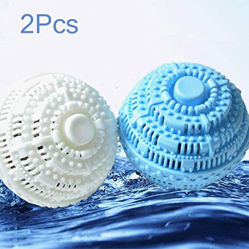 Rventric Wäscherei-Ball, Waschender Ball-Umweltverwendbare 2 Stücke Superwäsche, Beseitigt Form, Entfernt Flecken-Vollkommenes Geschenk (10 * 10Cm) -