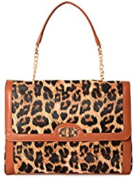 Kleio animal printed Hand Bag (Brown)