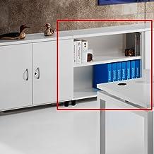 Armario de Oficina, Bajo, Diafano, 92x42x78 cm. Color Blanco.