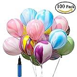 100 pezzi di palloncino e pompa d'aria, colori assortiti palloncini festaioli, bellissimi palloncini per festa, compleanno, matrimonio, festival matrimonio nozze apertura matrimonio