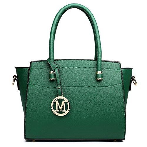 Miss Lulu, Borsa a spalla donna medium Green