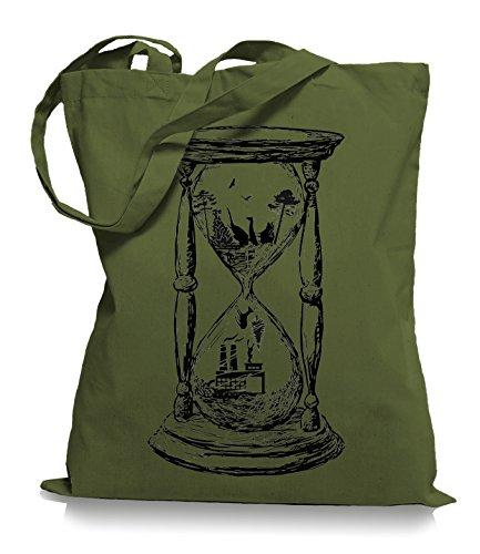 Ma2ca® Save the Nature - Naturschutz Jutebeutel Stoffbeutel Tragetasche / Bag WM101 Olive Green
