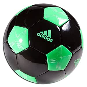 adidas 11Pro Glider Soccer Ball 3 Black/Green Zest/White