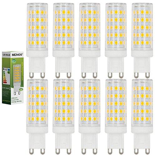 MENGS® 10 pezzi G9 10W LED Lampada Bianco caldo 3000K AC 220-240V 64x2835 SMD con il materiale del PC