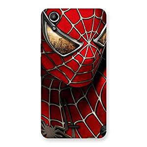 Gorgeous Spide Two Red Back Case Cover for Micromax Canvas Selfie Lens Q345