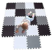 MQIAOHAM playmat Foam Play Tiles Interlocking Play mat Baby Play mats for Kids Floor mats for Children Foam playmats Jigsaw mat Baby Puzzle mat Children Rug Crawl mat