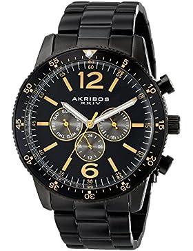 Akribos XXIV Herren-Armbanduhr Analog Quarz AK768BK
