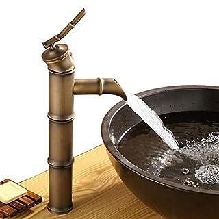 Homelava Antike Messing Bad Waschtischarmatur - Bambus-Form