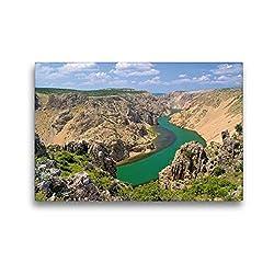 Premium Textil-Leinwand 45 x 30 cm Quer-Format Zrmanja Canyon | Wandbild, HD-Bild auf Keilrahmen, Fertigbild auf hochwertigem Vlies, Leinwanddruck von LianeM