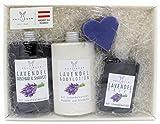 Geschenkset Lavendel von Haslinger mit Duschbad & Shampoo, Bodylotion, flüssige Seife und Seife