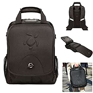 Crosskase 3-in-1 Laptop Backpack, Messenger and Attache