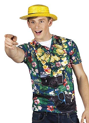 Fancy Ole - Herren Männer Hochwertiges Kostüm Tourist, Mehrfarbig, Größe XL (Tourist Halloween Kostüm)