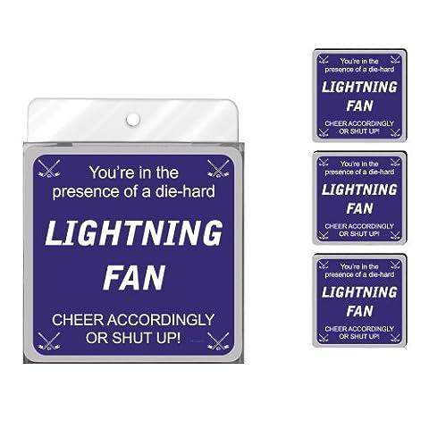 Nc38195 Lightning Hockey Fan 4-Pack Artful Coaster Set