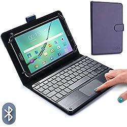 """8-8.9"""" inch étui Clavier pour Tablette, Cooper TOUCHPAD Executive 2-en-1 Clavier Bluetooth sans Fil Souris Étui de Voyage Cuir Porte-Documents + 8.9"""" 8.0"""" inch (Bleu)"""
