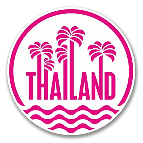 Preisvergleich Produktbild 2 x 10cm/100mm Thailand Vinyl SELBSTKLEBENDE STICKER Aufkleber Laptop reisen Gepäckwagen iPad Zeichen Spaß #6410
