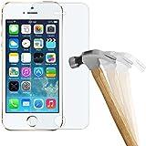wortek Premium 9H Hartglas / Panzerglas für Apple iPhone 5 / 5S / SE Displayschutzglas / Tempered Glass / Panzer Glas Display Schutz Folie / Schutzglas / Echt Glas / Verbundglas / Glasfolie Sicherheitsglas für iPhone 5 / 5S