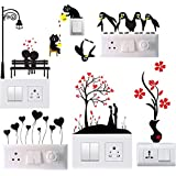 Gifts Collection Switch Board Sticker Wall Sticker, Wall Art, Fridge Sticker, Switch Stickers, Wall Sticker Combo Set of 6