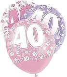"12"" Glitz Latex Birthday Balloons, Pack of 6"