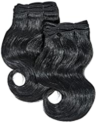 chear Body Wave Extensions capillaires 2en 1Extension de Cheveux Humains avec de mélange tissage Nombre 1, Noir...