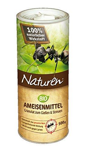 Naturen Ameisenmittel, staubfreies Ködergranulat mit sehr guter Lockwirkung und zuverlässiger Nestwirkung, 500g Dose