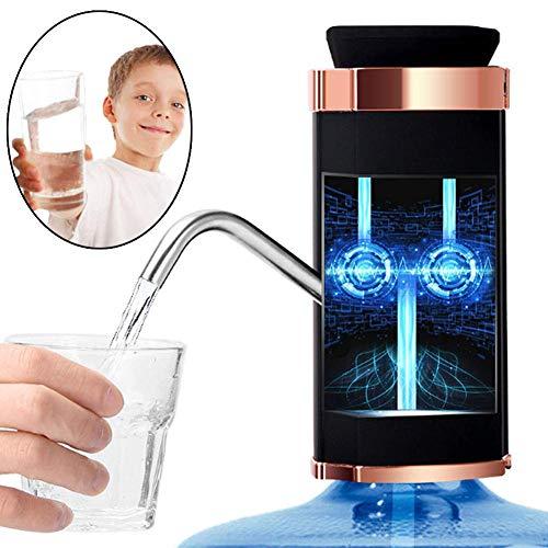 DIMOWANNGG Elektrischer Wasserspender Tragbarer Gallonen-Trinkflaschenschalter Intelligente drahtlose Wasser Doppelpumpe Wasseraufbereitungsgeräte, Intelligente Erkennung der Wasserqualität