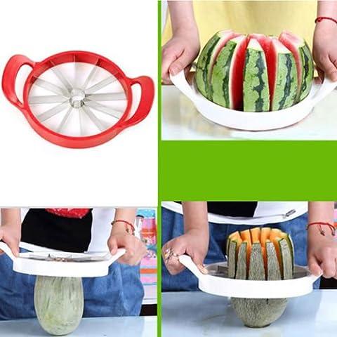 Kabalo Facile Fruit Melon Slicer - Cantaloup Pastèque Slicer Kitchen Tool inoxydable Steel Cutter [Easy Fruit Melon Slicer - Cantaloupe Watermelon Slicer Kitchen Tool Stainless Steel Cutter]
