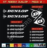 Aufkleber stickers DUNLOP -Motorrad- Cod. 0569 (Bianco cod. 010)